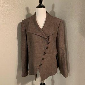 Tahari brown tweed blazer
